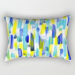 Abstract Blue Rectangular Pillow