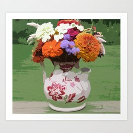 Pitcher of Flowers Art Print