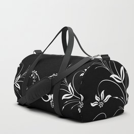 Abstract floral frame Duffle Bag