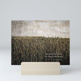 ecology {the earth has music Mini Art Print