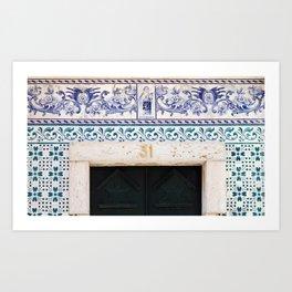 Terezinha door Ericeira Portugal Art Print