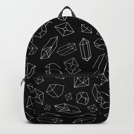 Black and White Crystal Pattern Backpack
