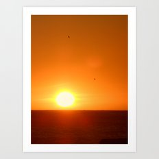 Last Sunset in Cape Town Art Print