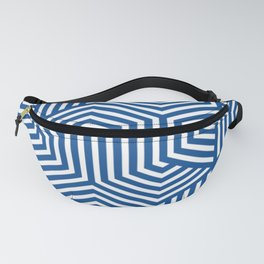Yale Blue - blue - Minimal Vector Seamless Pattern Fanny Pack