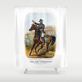 General US Grant -- Our Old Commander Shower Curtain