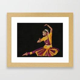 Bharathanatyam Dancer Framed Art Print