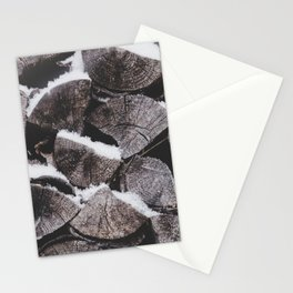 Snowy Wood Pile Stationery Cards