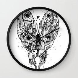 my sea butterfly Wall Clock
