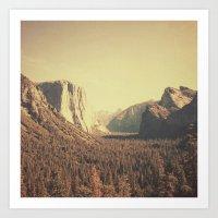 yosemite Art Prints featuring Yosemite by nois7
