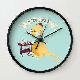 Tea Rex Wall Clock