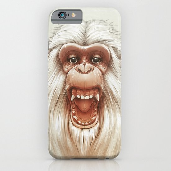The White Angry Monkey iPhone & iPod Case