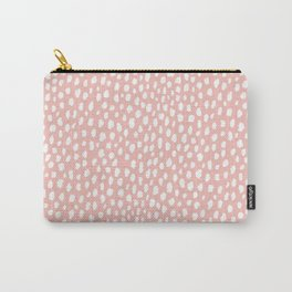 Pink Polka Dot Spots (white/pink) Carry-All Pouch