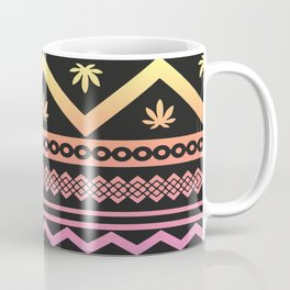 Cannabis Geometric Aztec Coffee Mug