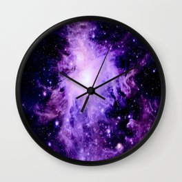 Orion nebUla. : Purple Galaxy Wall Clock