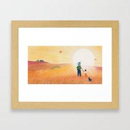 The Sun is a Shine Framed Art Print