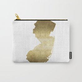 New Jersey state map gold foil Carry-All Pouch