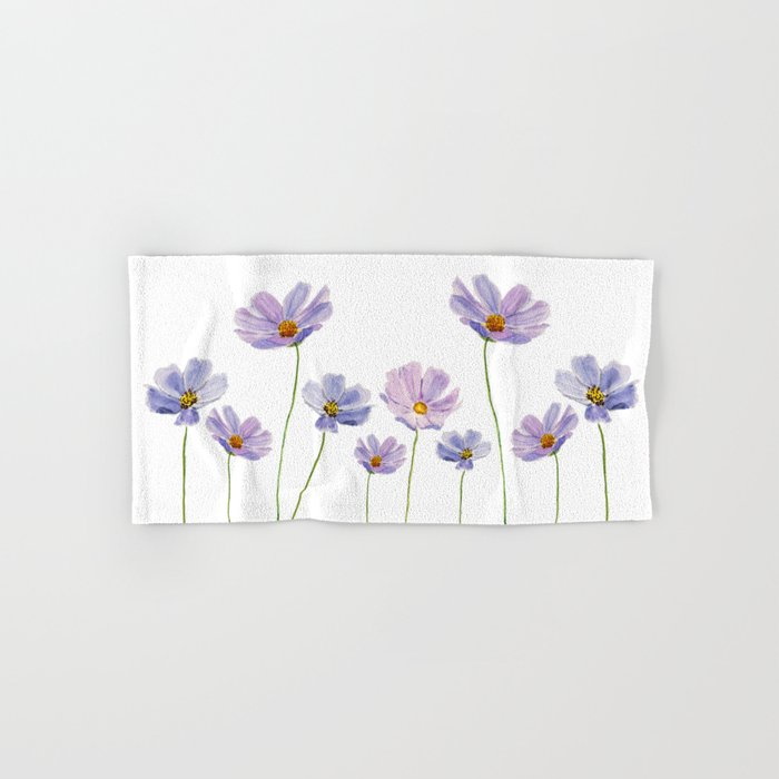purple cosmos 2 Hand & Bath Towel