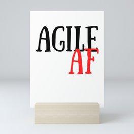 Scrum Agile AF Funny Scrum Mini Art Print