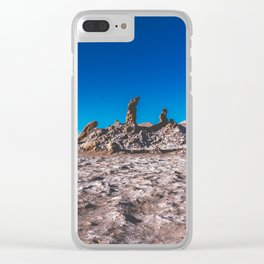Las Tres Marías (Valle de la luna) - The three Marias Valley of the Moon, Atacama Desert, Chile Clear iPhone Case