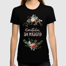 Nevertheless, She Persisted Womens Fitted Tee X-LARGE Black