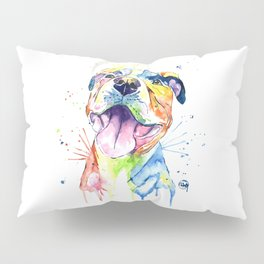 Pit Bull, Pitbull Watercolor Painting - The Softer Side Pillow Sham