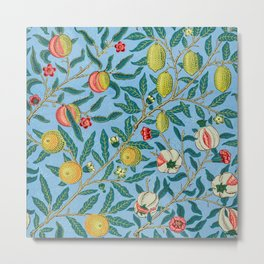 Four Fruits Pattern by William Morris 1864 Metal Print