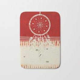 ARETERSTING V50 - Original Red Bohemian Moroccan Artwork Bath Mat