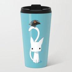 Cat and Raven Travel Mug