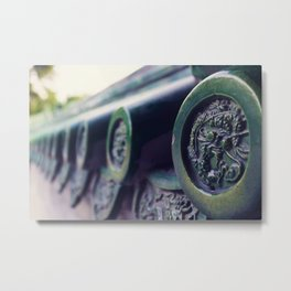 Chinese Style Roof Tiles, Chinese Dragon Metal Print