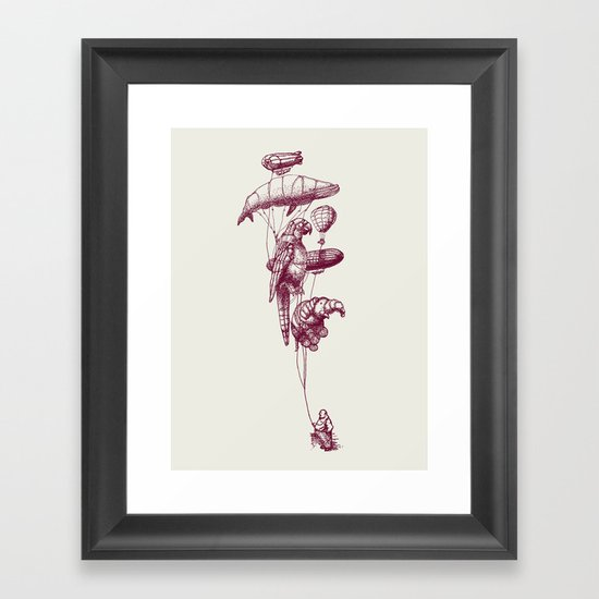 The Helium Menagerie (merlot)  Framed Art Print