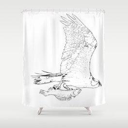 #inktober2016:flight Shower Curtain