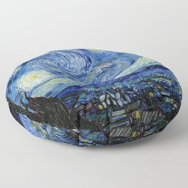 Starry Night by Vincent Van Gogh, 1889 Artwork for Wall Art, Prints, Posters, Tshirts, Men, Women, Kids Floor Pillow