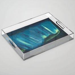 Aurora Borealis Acrylic Tray