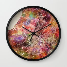 Bristol map Wall Clock
