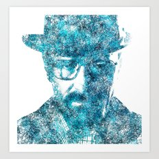 Walter White made of SkyBlue. Breaking Bad returns TONIGHT!!! Art Print