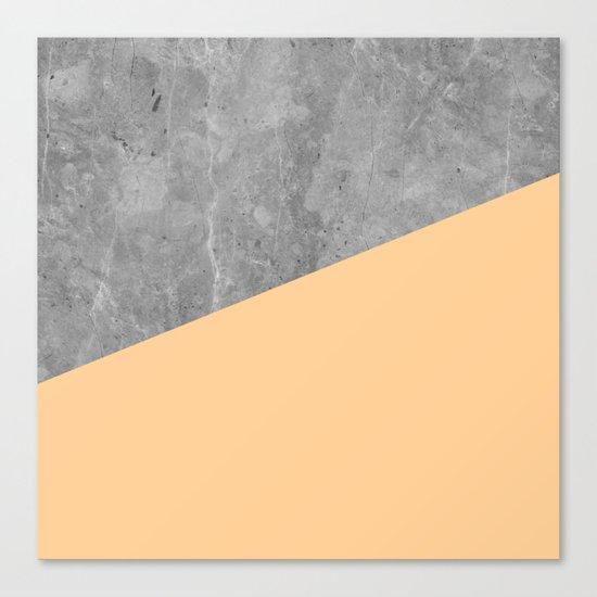 Geometry 101 Orange Sherbet Canvas Print