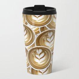 Latte Hearts Travel Mug