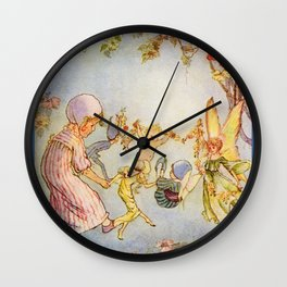 """Fairy Revel"" by Hilda Miller 1915 Wall Clock"