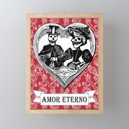 Amor Eterno | Eternal Love | Red and Black Framed Mini Art Print