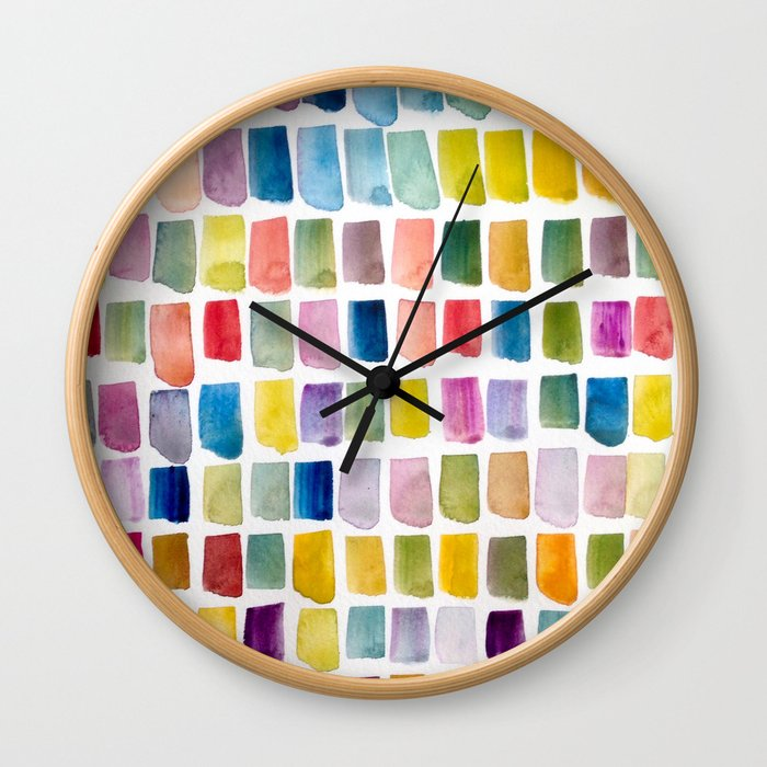#135 Color Garden Wall Clock