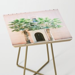 """Travel photography print """"Magical Marrakech"""" photo art made in Morocco. Pastel colored. Side Table"""