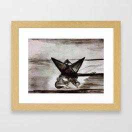Little paper boat Framed Art Print