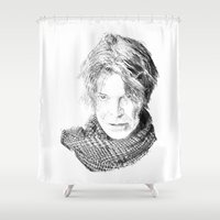 david tennant Shower Curtains featuring David by Rabassa