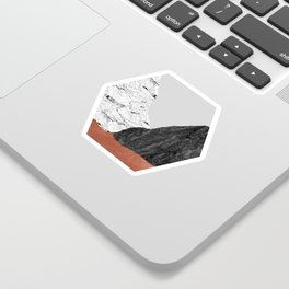 Copper Geometric I Sticker