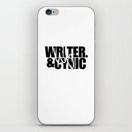 WF - Writer & Cynic iPhone Skin