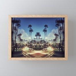 X Marks the Spot (Blue) Framed Mini Art Print