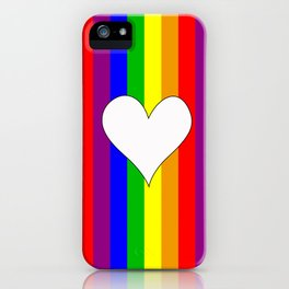 Gay flag with the colors of the rainbow with a heart iPhone Case