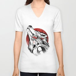 The girl and the wolf Unisex V-Neck
