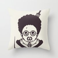 potter Throw Pillows featuring Barry Potter by Ryder Doty