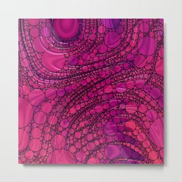 Dots in Rosy Hues Metal Print